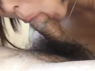 Cock-sucking action with me in amateur cougar vid asian blowjob red head